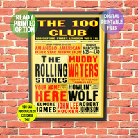 A Blues Concert – and you're playing at it! A4 Poster Wall Art Print.
