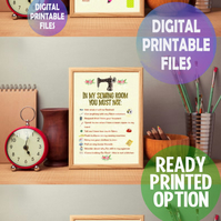Set of 3 Crafting related posters. A4 Poster Wall Art Print.