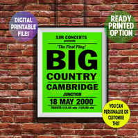 Personalised Concert Poster A4 Wall Art Print