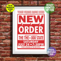 New Order - Played at YOUR Music Venue! A4 Poster Wall Art Print.