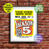 Jackson 5 - Played at YOUR Music Venue! A4 Poster Wall Art Print.