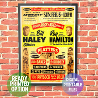 Biggest Rock 'n Roll Show 1956 Concert Poster. A4 Poster Wall Art Print.