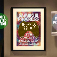 Game in progress poster. A4 Poster. Wall Art Print.