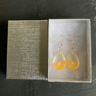 Fun resin oranges earrings