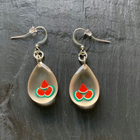 Fun resin melon earrings