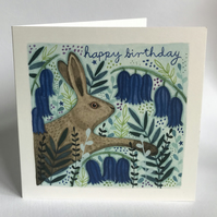 Bluebell Hare Card