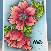 "Flower Card to say ""Hello"""