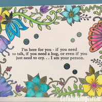 Water Coloured Hugs Card