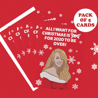 Mariah Carey 5pack A6 Christmas Cards 2020