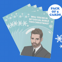 Michael Bublé 5pack A6 Greeting Cards