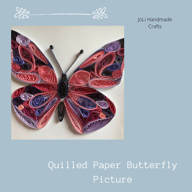 Handmade Quilled Butterfly with Frame