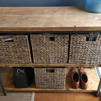 Steel & Scaffold Board Industrial Look Cube Basket Hallway Playroom Storage