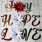 Christmas metallic wall stickers