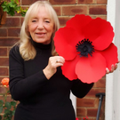 "CHARITY ALERT! Every Poppy Counts fundraiser: 15"" Billy window poppy"