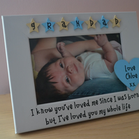 Personalised photo frame Grandad I've loved you my whole life