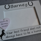 Personalised photo frame - BEST FRIEND not always human - horse gift