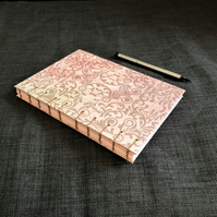 Pink and Lilac paisley A5 notebook