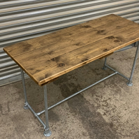 Rustic Reclaimed Scaffold Board Industrial Style Dining Table 3 Plank