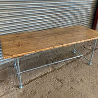 Rustic Reclaimed Scaffold Board Industrial Style Dining Table 4 Plank