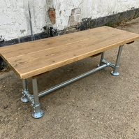 Rustic Reclaimed Scaffold Board Industrial Style Bench Seat