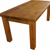 Rustic Plank Furniture Solid Pine Dining Table
