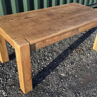 Rustic Plank Furniture Chunky Solid Pine Dining Table