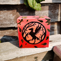 Red Pegasus Trinket Box
