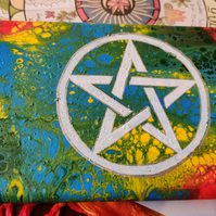 Rainbow Pentacle Small Canvas