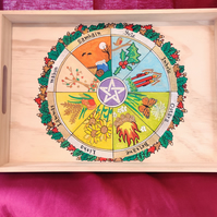 Wheel of the Year Altar Tray