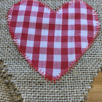Cute 5 hessian pennant love bunting