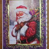 A5 Father Christmas Card