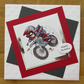 "7x7"" Off Road Bike - Birthday Card"