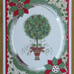 Holly & Berries Topiary Tree - A5 Christmas Card