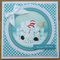 """Snowman With His Ice Castle - 7x7"""" Christm... - Folksy"""