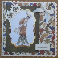 "Decorating Time - 8x8"" New Home Card"