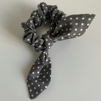 Grey Spot  Collection  - Hair Scrunchie.