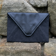 Black Recycled Envelope Clutch