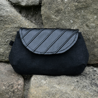 Black Recycled Patchwork Clutch