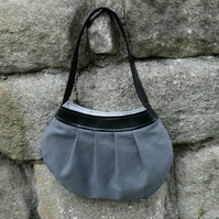 Recycled grey vintage inspired bag