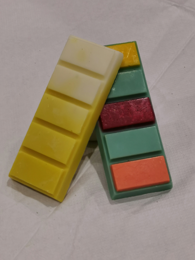 Luxury Soy Wax Snap Bars - 2 Pack.  Zesty Accord & Pina Colada Home Fragrance.