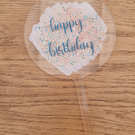 acrylic cake topper round happy birthday.personalised