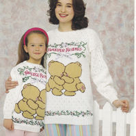 Knitting Pattern Forever Friends Sweater,  Patons 5042
