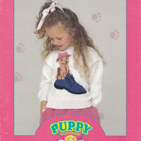 Knitting Pattern Puppy in my Pocket Sweater, Pixie,  Patons 5263