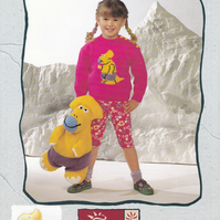 Knitting Pattern Dinosaur Sweater & Toy,20-26in, Patons 5056