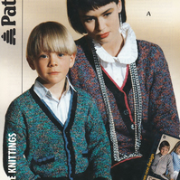 Knitting Pattern Cardigan 3 Looks from 1 Design,  24-44in, Patons 8455