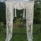 Macrame wedding arch - customised with you and your partner's initials
