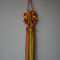 Colour macrame skull wallhanging