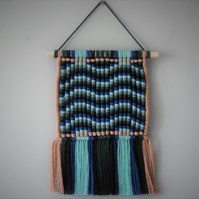 Macrame tapestry wave wall hanging