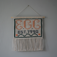 Personalised macrame wallhanging - gift for newborns, birthday or weddings