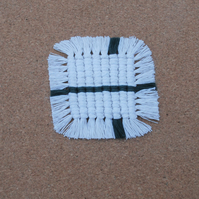 Square macrame coasters - set of 4